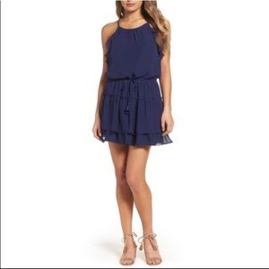 NWT Greylin Halter Navy Blue Mini Dress Medium